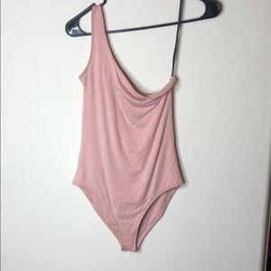Pink One sleeve Bodysuit